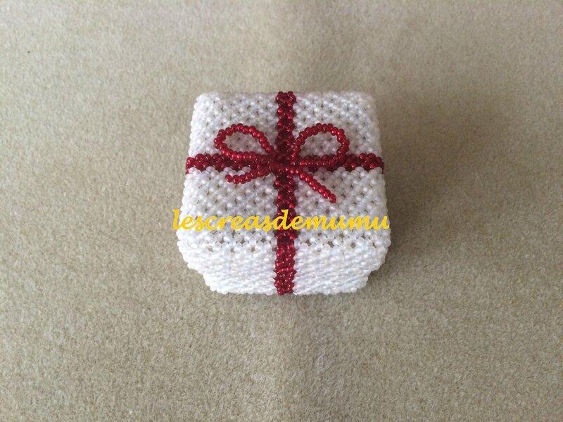 Boîte carrée cadeau