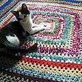 Plaid couverture crochet bohème faite-main plus disponible