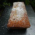 Cake à la polenta, noix de pécan et orange