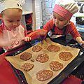 Cookie chocolat flocon d'avoine