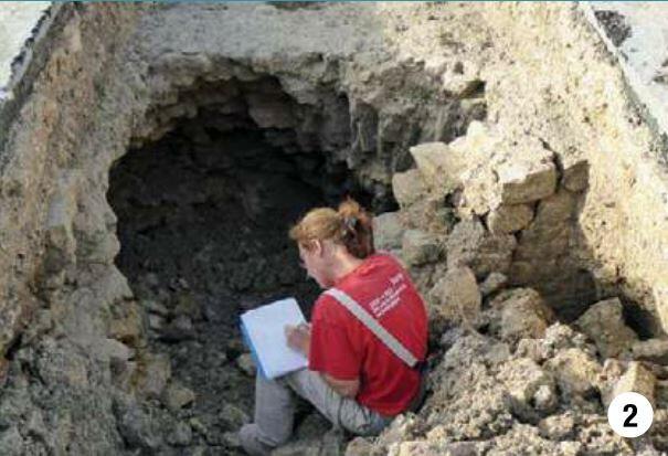 fouilles château de Surgères