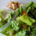 Salade - tomate- croûtons maisons