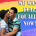 We want full equality now!