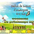Programme des vacances de pâques