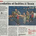 Vu dans la presse : acrobaties et facéties à l'école - er du 13/06/2018