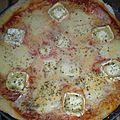 Pizza chèvre mozzarella