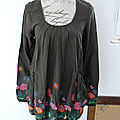 Tunique / blouse desigual kaki taille xl : 30euros