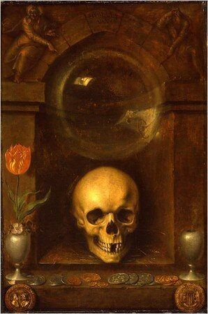 """Vanitas Still Life,"" by Jacques de Gheyn the Elder, 1603 (Photo: Metropolitan Museum of Art)"