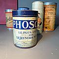 Retour n° 1 sur la collection de boîtes anciennes : phoscao