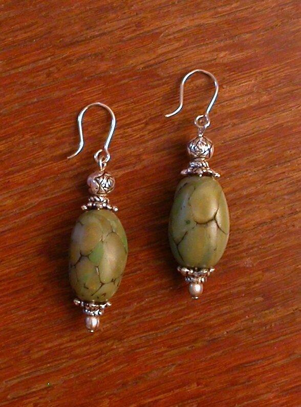 2007-3347 boucles d'oreilles jade