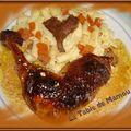 Pintades, sauce au foie gras, sauce aux girolles