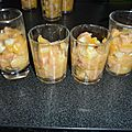 Verrine de saumon,mangue et fenouil