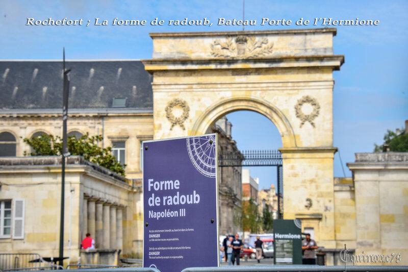 Rochefort ; La forme de radoub, Bateau Porte de l'Hermione (2)