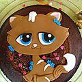 Gâteau petshop en zebra cake pour la battle food #17 !