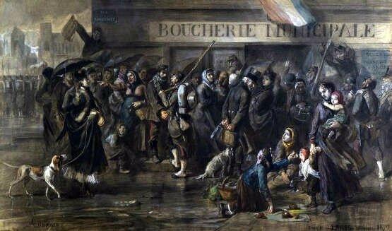 Andrieux, La queue devant la boucherie