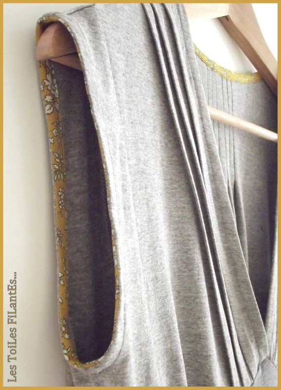 Robe burda jersey gris et capel moutarde7-1