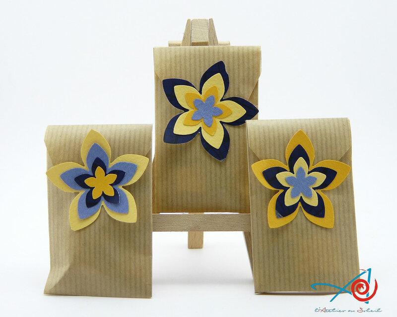 Sachets cadeaux fleuris - recto L'Atelier au soleil
