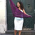 Le châle reyna, tricot de vacances