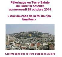 Bulletin d-inscription Terre Sainte 2014 face bis