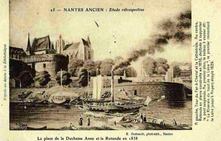 Nantes ancien - Place de la Duchesse Anne