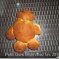 Brioche petit ours brun