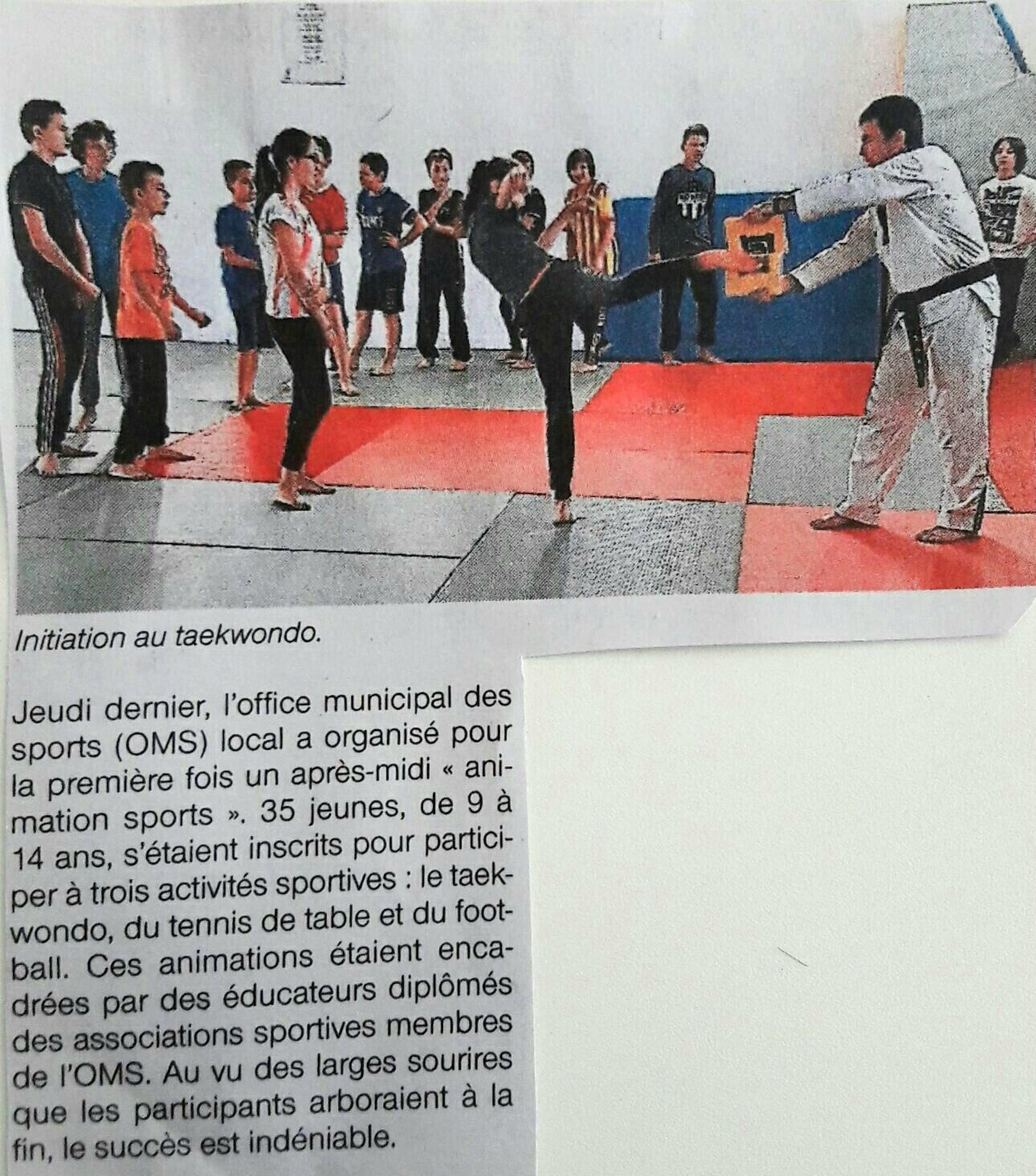 Le taekwondo Océan et les OMS