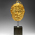 a very rare gold mask, liao dynasty (907-1125)