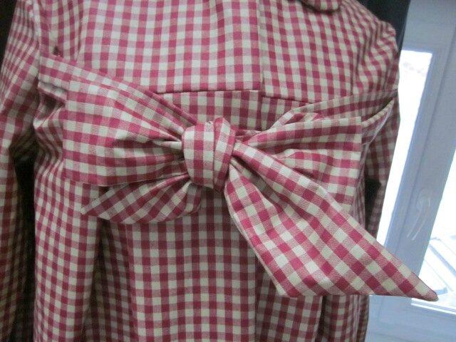 Ciré AGLAE en coton enduit à carreaux rouge et beige (4)