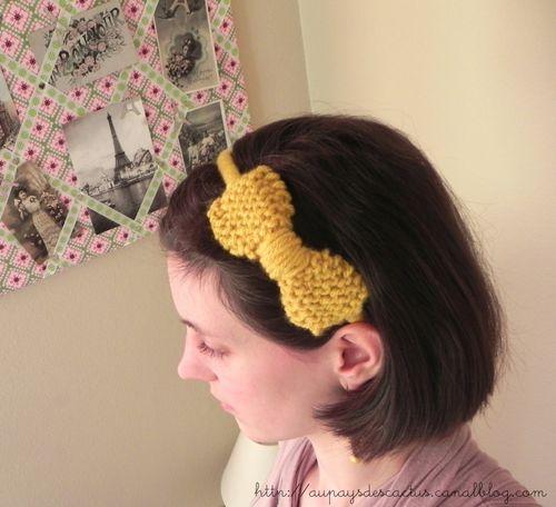 Bow-tie headband Au pays des Cactus