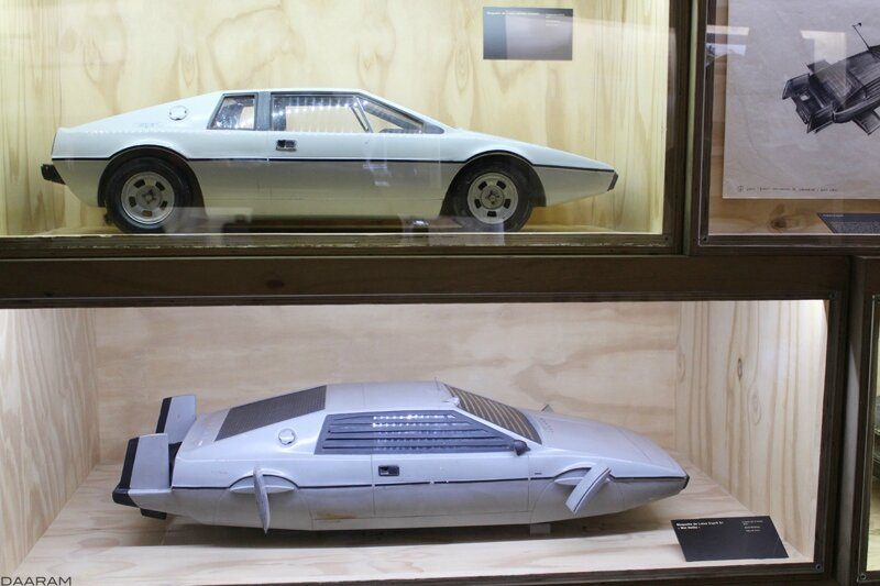 Lotus Esprit S1 « Wet Nellie » scale models. From « The spy who loved me ». 1977. Photo: Olivier Daaram Jollant © 2016