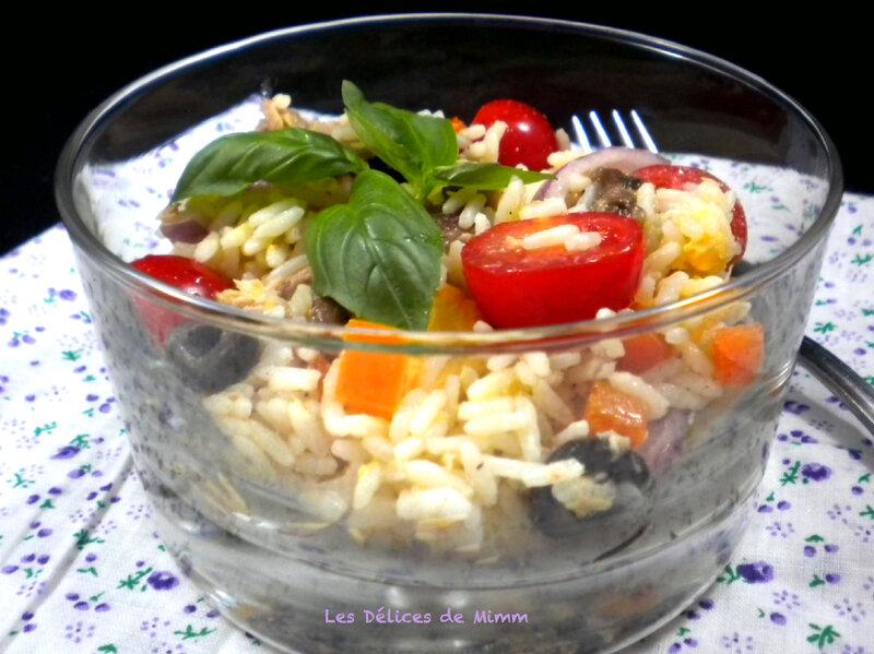 Salade de riz façon niçoise