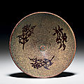 A Jizhou paper-cut resist-decorated conical bowl, Southern Song dynasty, 12th-13th century