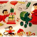 Papier cadeau années 50.