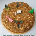 Gâteau au chocolat, mascarpone, épices de noël et pralin