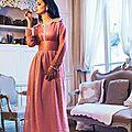 Caftan marocain rose de luxe