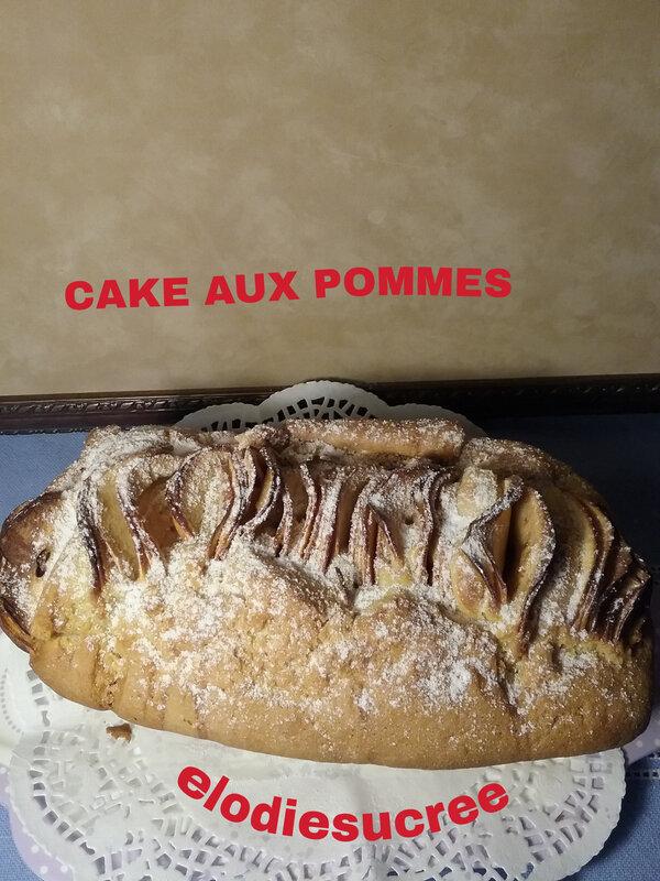 Cake aux pommes et vanille 039