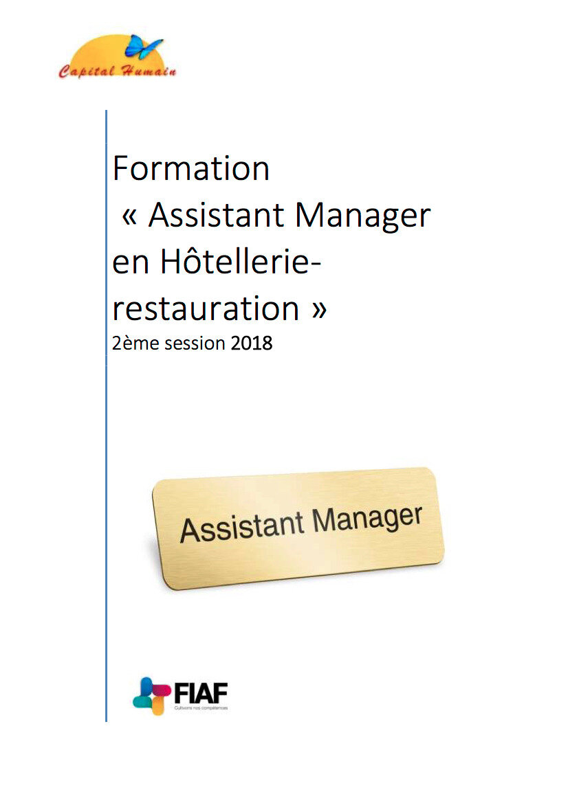 Formation Assistant Manager - Le Catalogue