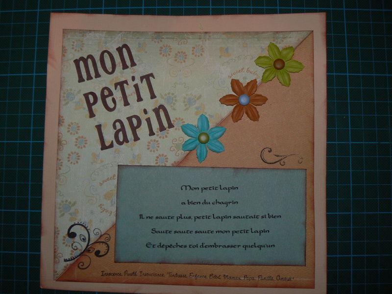 COMPTINE MON PTIT LAPIN