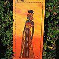 Femme africaine réalisée en collages