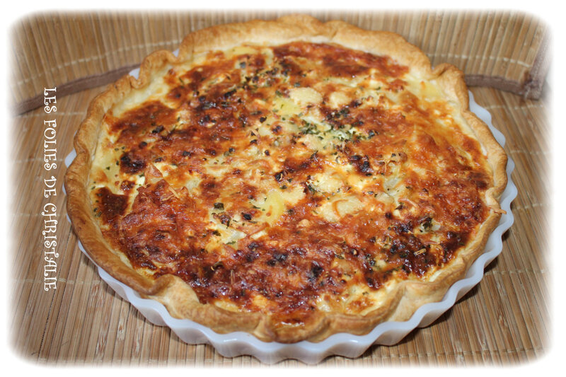 Quiche bacon féta pdt 6