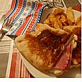 Grilled cheese sandwich (sandwich grillé américain)