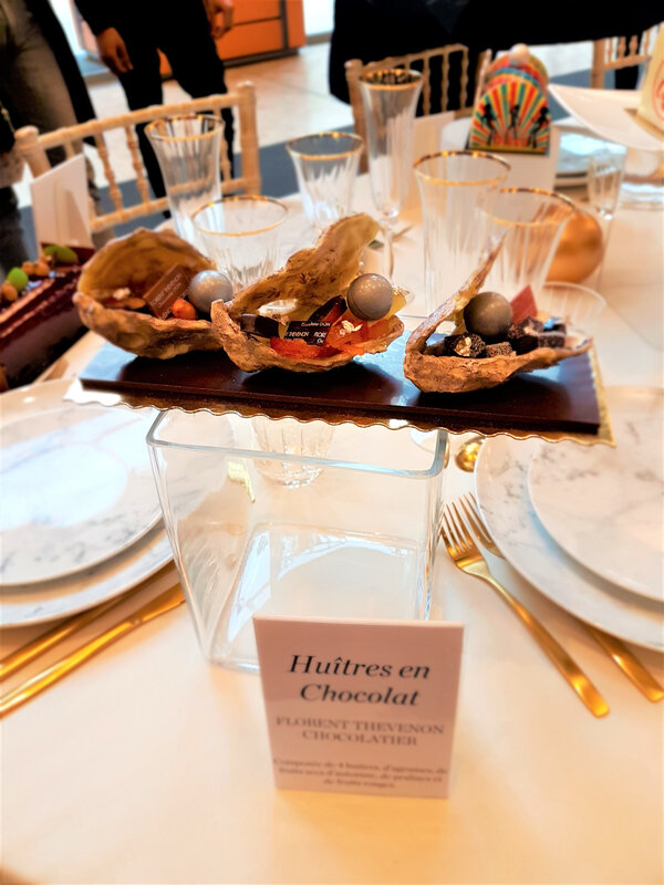 chez cathytutu salon du chocolat 2019 lyon buches 2019 thevenon huitre en chocolat