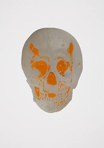 Damien Hirst, The Dead Chilli Red Lime Green Skull , 2009