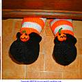 Jambes et chaussures pour halloween