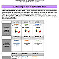 Plannings de rives (septembre et octobre)
