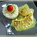 Cabillaud sauce coco/citron vert