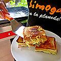 Croque-monsieur jambon/fromages cuisson à la plancha