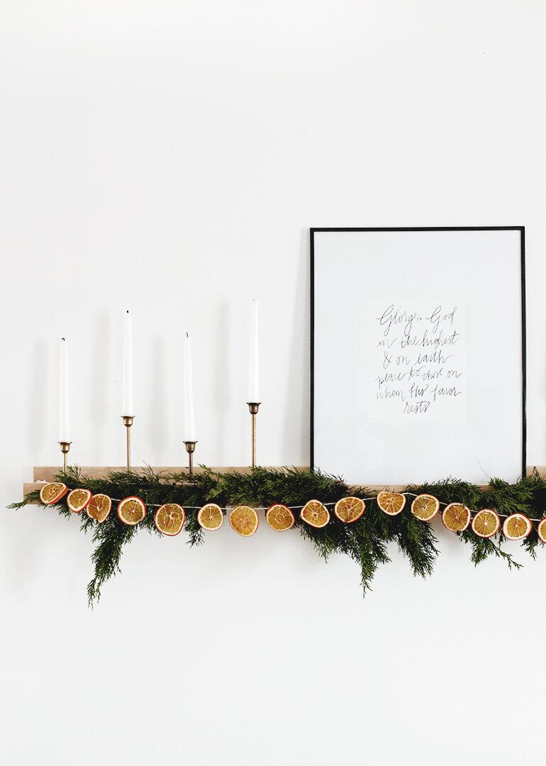 12 décos tendance pour Noël avec les traditionnelles oranges séchées