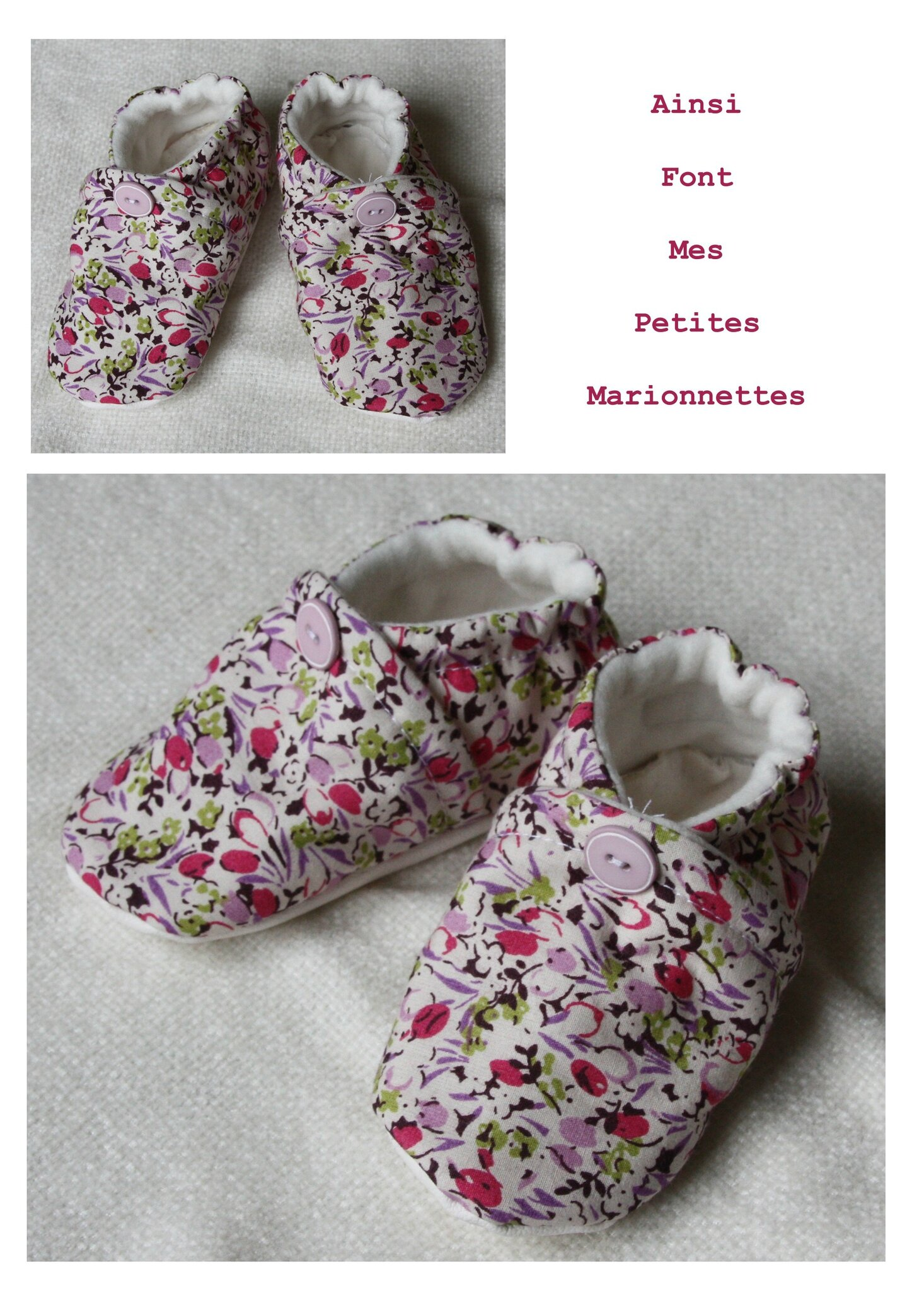 chaussons roses 1