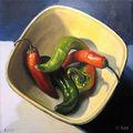 Piments | huile sur toile | 20 x 20 cm